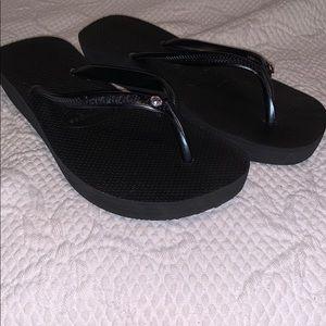 Havaiana Sz 38 black Platform sandal